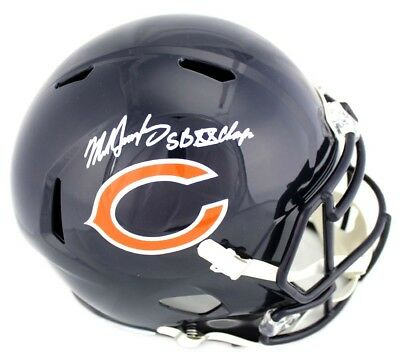 9afc3130fe1 Mike Singletary Signed Chicago Bears Riddell Speed Helmet