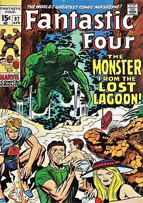 "Reproduction Vintage ""Fantastic Four"" Comic Poster, Home Wall Art, Vintage Print"