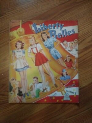 Vintage UNCUT Libery Belles uniform 1943 Paper Doll Book - MERRILL RARE ORIGINAL