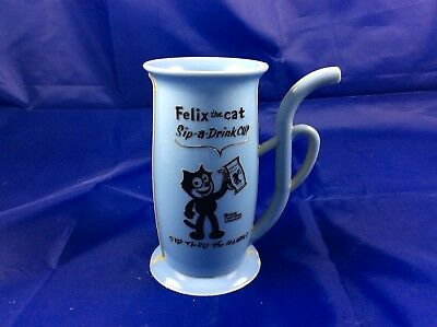 1960s Felix the Cat Sip-a-Drink Cup w/Built-in Straw Handle