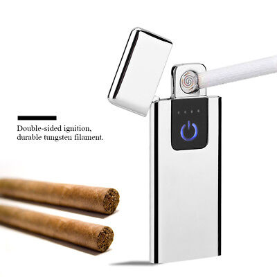 USB Electric Cigarette Touch Lighter Ultra-thin Flameless Windproof Rechargeable