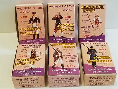 6 Marx Warriors of the World Revolutionary Soldiers w/ Cards & Boxes NIB Vintage