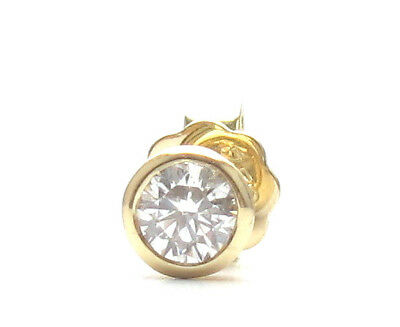Brillant Diamant Ohrstecker 750 Gelbgold 18 Karat Gold 0,40 ct F/IF Solitär