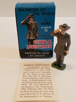 MARX WARRIORS OF THE WORLD - GENERAL LONGSTREET Confederate Soldier MIB, Vintage