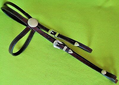 CIRCLE Y Vintage FANCY Alpaca SILVER Horse Show HEADSTALL Bridle~Browband~NO RES
