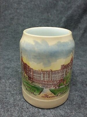 FRENCH LICK SPRINGS HOTEL Advertising Beer Mug French Lick Springs Indiana