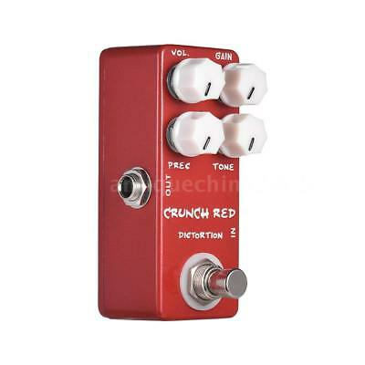 MOSKY CRUNCH RED Distortion Guitar Effect Pedal Full Metal Shell True Y9R9