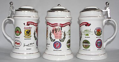 Joseph Huber Brewing Co., Monroe, Wis., 1991 Small Breweries beer stein