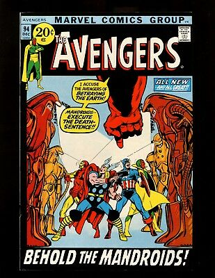 Avengers #94 VF Neal Adams Buscema Captain Marvel Kree-Skrull War Nick Fury FF