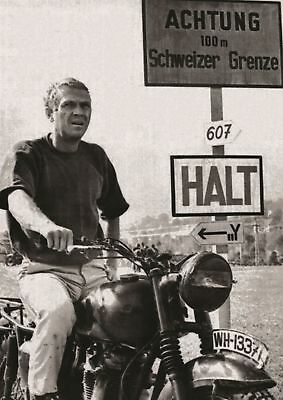 The Great Escape Steve Mcqueen Poster - 4 Sizes You Choose - Uk Seller
