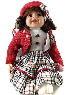 "20"" Lifelike Size Large Happy Face Soft Bodied Baby Doll Girl Boy Play Toy"