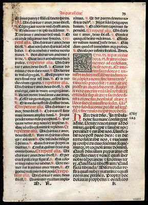 Mass Celebrated on Good Friday During The  Easter Season1566 Roman Missal Leaf