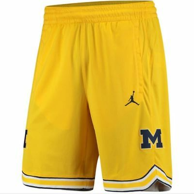 2d01c492dba2 NIKE Men s JORDAN Michigan Wolverines Replica Basketball Shorts Men s SZ  Large