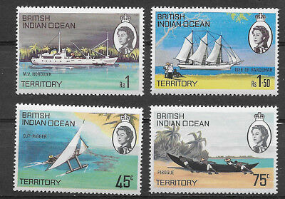 British Indian Ocean Territory ,1969, Set Of 4 , Perf, Mnh