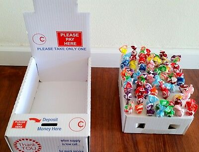 5 NEW Vending Boxes, Pricing Stickers and More. Donation Honor Box Sells Candy!