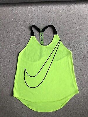 Nike dry-fit Just Do It Tank Top Neon Yellow S