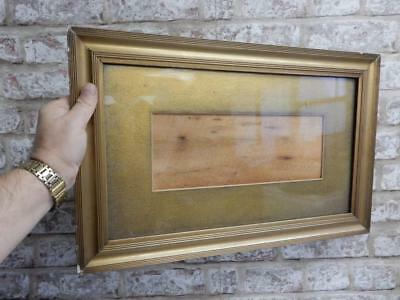 """really OLD picture frame gilt fits a 17 inch  X 10 """" painting"""