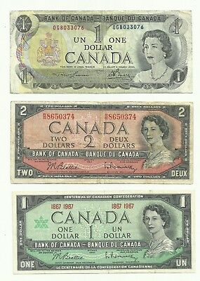 CANADA 3  BANKNOTES ................economic shipping enters and reads