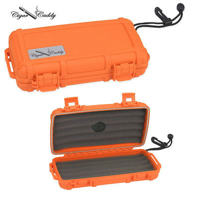 Cigar Caddy 3400 Humidor 5-ct- Rubberized Orange