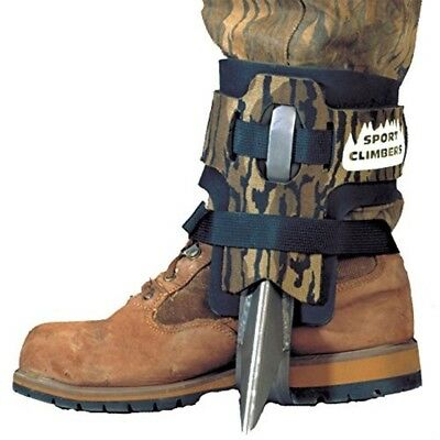 Steel Spur Tree Climbing Spikes/Shoes Straps Pair, Forestry, Treestand Hunting