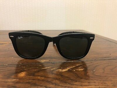 88c06e88a1a ... ireland ray ban black wayfarer sunglasses folding rb4105 601s 54mm  broken nose piece 51b46 bc381