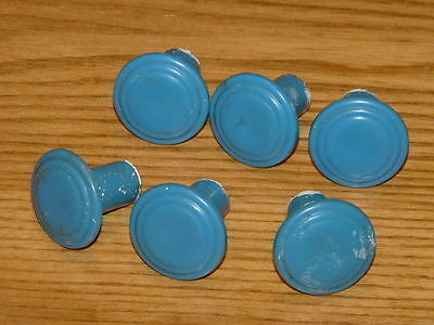 6 Nice Vintage Plastic Drawer Knobs