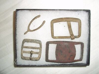 antique buckles metal detector finds + riker case
