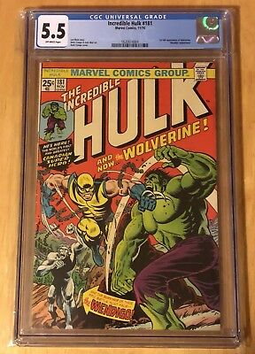 THE INCREDIBLE HULK #181  CGC  5.5 OW 1st Full Appearance Of Wolverine
