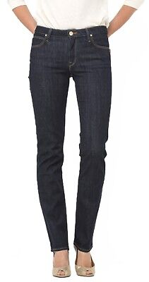 LEE Marion Ladies Straight Leg Stretch Jeans Womens One Wash Faded Denim Pants
