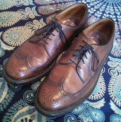 Plymouth Vintage V-Cleat 5-Nail Brown longwing Wingtip 7.5D florsheim gunboat