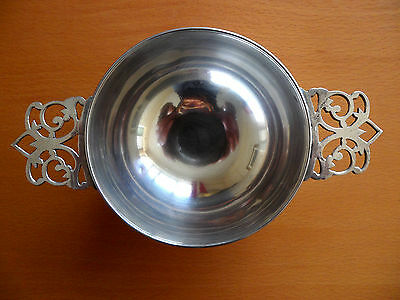 Antique Zolotas Rare Greek Silver Handled Bowl Hand Made Dish Saliere 165 Grams