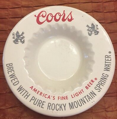 Vintage Ashtray 1970s Coors Beer Collectible Ceramic