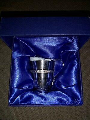 Lovely Silver Plated Christening Cup From Weir&sons.  Boxed. Excellent Condition