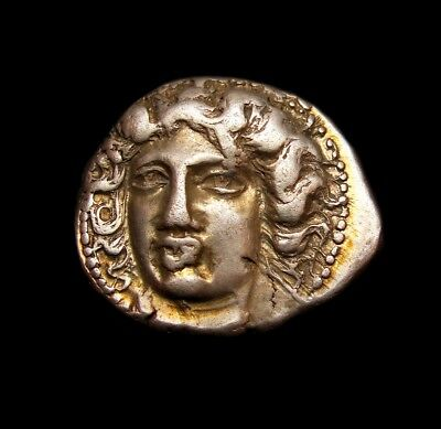 Nymph of Larissa. The most Beautiful Woman of Greece.Ancient Greek coin drachma⭐