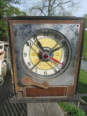 Original 1933 Magic Clock Gum Vender Trade Stimulator Keeney & Sons Inc. Chicago
