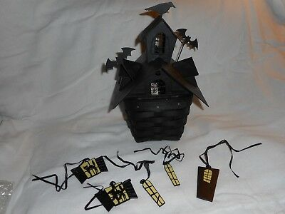Longaberger 2012 Halloween House  Never Used Made In USA