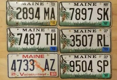 License Plate Lot Assorted Years 6 Plates Good Condition