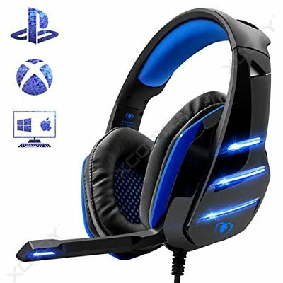 Wired Pro Gaming Headset for PS4 Xbox One PC With Mic LED and Volume Control
