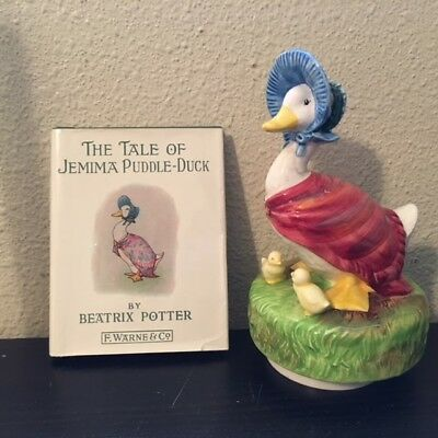 Schmid 1977 BEATRIX POTTER Music Box & Tale of Jemima Puddle Duck Book F Warne