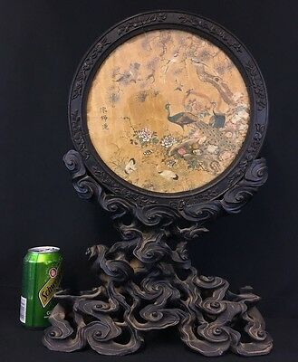 Museum Quality Antique 18th Century Chinese Silk Embroidery Roundel NO RESERVE!!