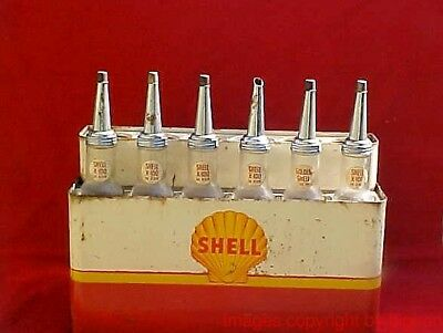 Vintage Shell Quart Oil Bottle Display - From Long Ago Closed Idaho Gas Station