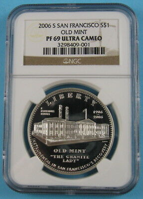2006-S San Francisco Old Mint Silver Dollar ✪ NGC PF69 Ultra Cameo ✪ AA0920
