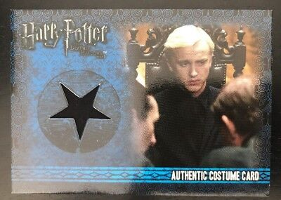 Harry Potter Deathly Hallows Part 1 Draco Malfoy Costume Card Tom Felton Relic