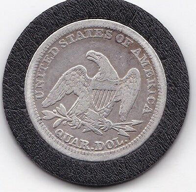1854  Seated  Liberty  25 cents  /   Quarter  (90% Silver) Coin