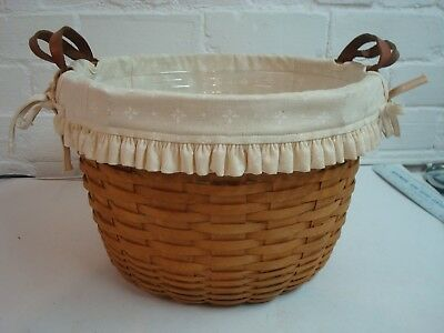 Longaberger Bushel Basket, with Two Liners