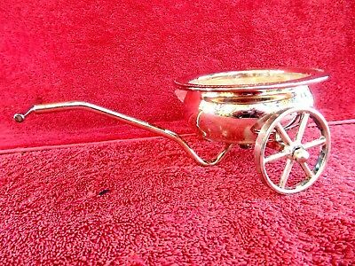 SILVER  PLATED  SINGLE  WAGON 'SWEETS/ LOLLY DISH'   21cm