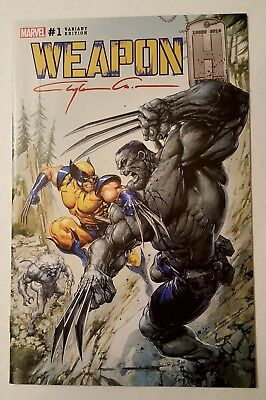 Weapon H #1 Rare Crain Limited Edition Variant Signed By Clayton Crain W/ Coa Nm