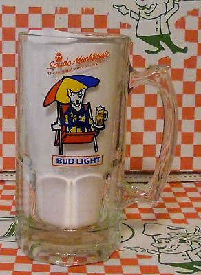 "Large 8"" Spuds Mackenzie Budweiser Bud Light Glass Beer Mug Party Animal"