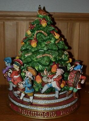 Fitz & Floyd 12 Days of Christmas collection 11 Drummers Drumming Cookie Jar