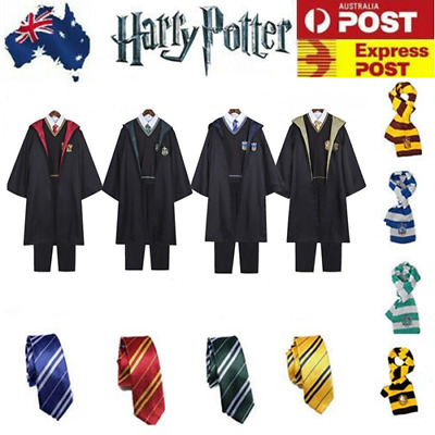 Christmas Adult Kids Harry Potter Gryffindor Ravenclaw Robe Tie Cosplay Costume